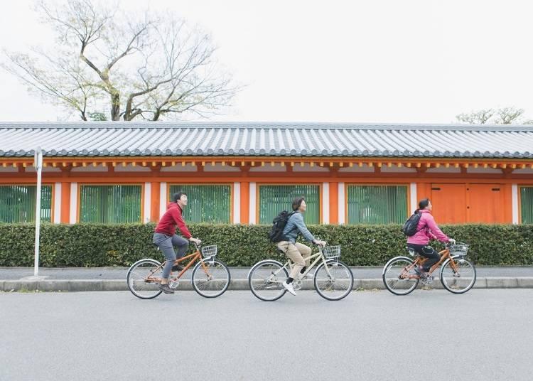 京都深度旅遊秘招5:交通再壅擠都不怕!租借腳踏車也是一種方式