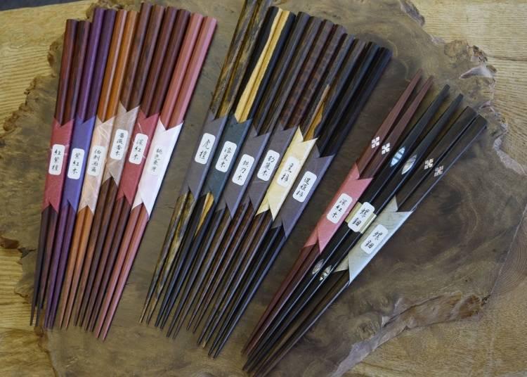 金閣寺伴手禮5. 天然素材筷子與收納盒「京都筷子工房」