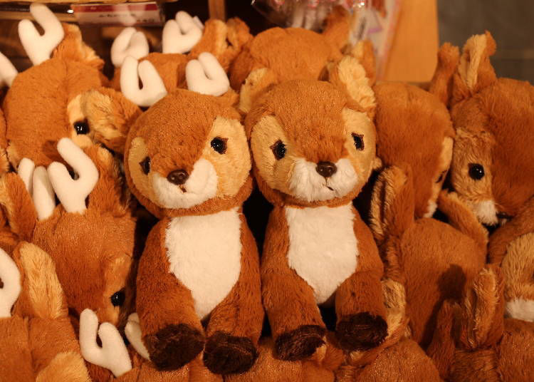 Deer and doe plush toys