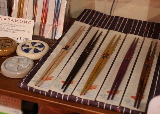 "Polished chopsticks ""Deer and Wakakusayama"""
