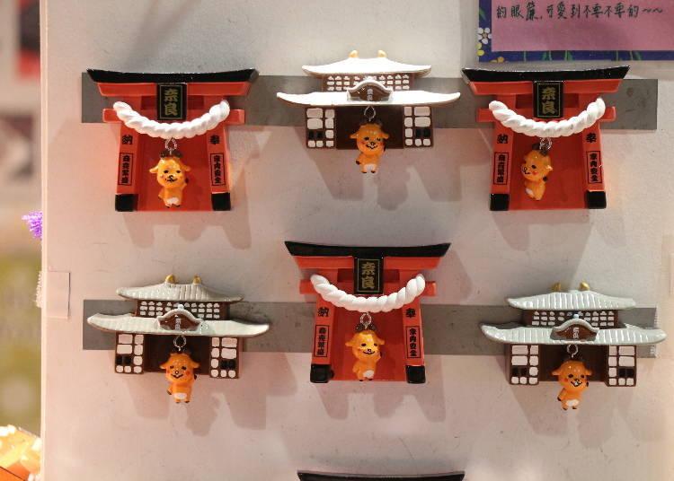 奈良車站周邊必買6. 鹿麻呂君搖搖鳥居磁鐵、鹿麻呂君搖搖大佛殿磁鐵