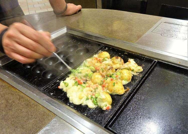 Osaka Food: How to Make Takoyaki Octopus Balls in 3 Easy Steps!