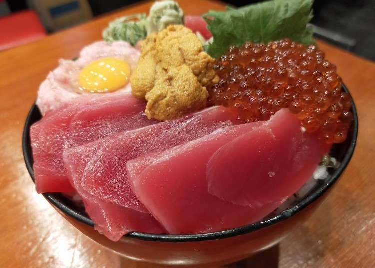 돈부리 - 오사카 니혼바시의 천연 마구로동(참치덮밥)을 찾아서!
