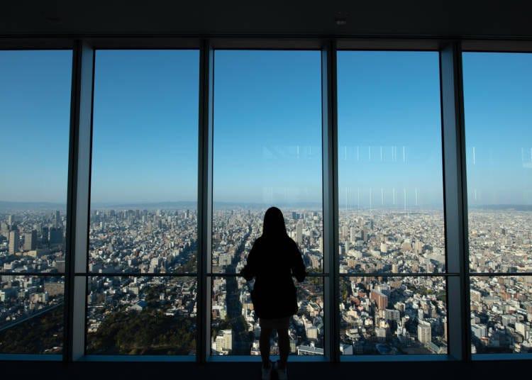 大阪夏天必玩4.在日本最高的地方「阿倍野HARUKAS」品嚐的霜淇淋