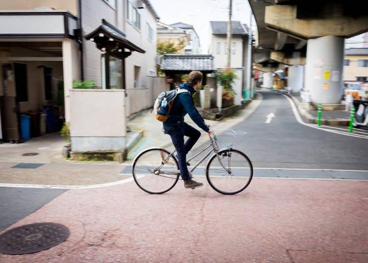 京都夏天行程必做3. 租台自行車來趟單車之旅吧!