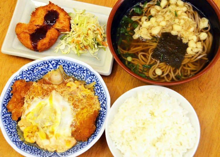 Most customers order the Higawari Teishoku (daily set meal)