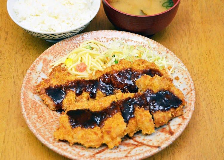 Delicious, freshly fried Chicken Katsu Teishoku