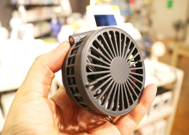 6. Compact Fan Mini Kuri: Hands-Free Cooling