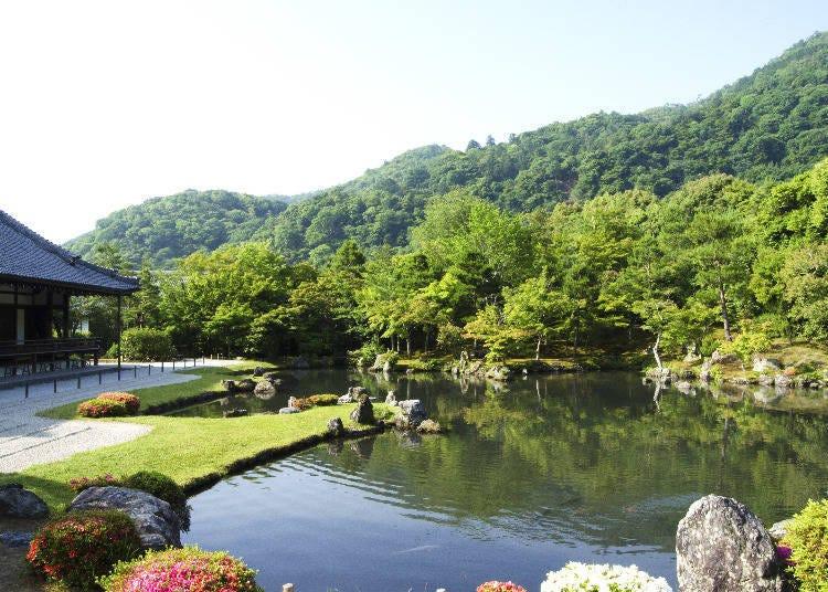 京都嵐山腳踏車之旅景點④擁有美麗庭園的世界遺產「天龍寺」