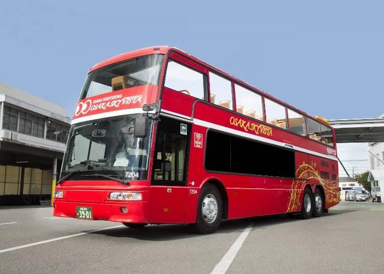 大阪人氣觀光巴士1:「OSAKA SKY VISTA」360度全景,大阪知名景點盡收眼底!
