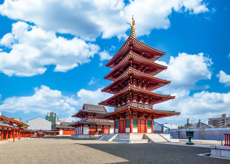 1. 【덴노지】잿날에도 즐길 수 있는 일본에서 가장 오래된 관사 '시텐노지 절'