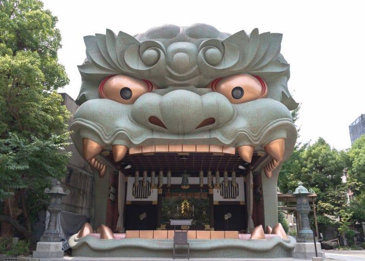 大阪免費景點推薦4.【難波】讓「難波八阪神社」的巨大獅頭迎接你的到來