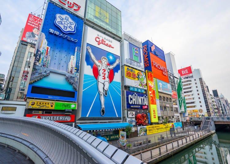大阪免費景點推薦6.【難波】華麗的大阪拍照熱門地點「戎橋」