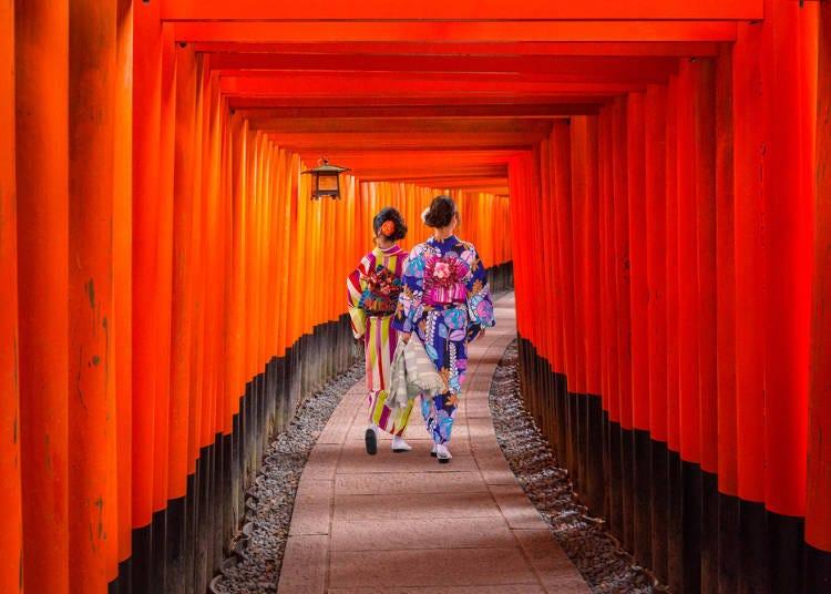 京都免費景點⑩【伏見】熱門拍照景點的千本鳥居「伏見稻荷大社」