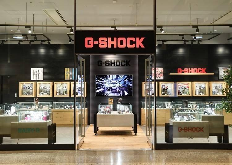 關西唯一的旗艦店「G-SHOCK STORE」(北館1F)