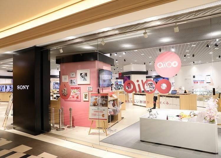 SONY最新機種排排站的「Sony Store 大阪」(HERBIS PLAZA ENT 4F)