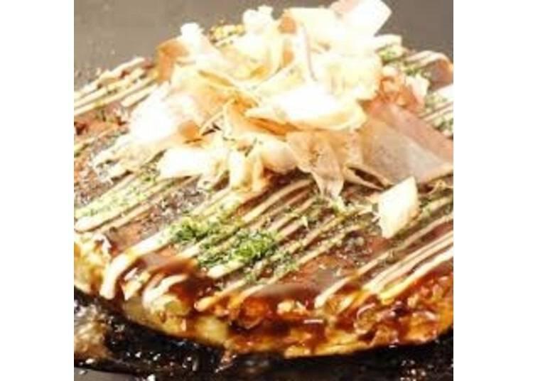 3.目の前の鉄板で焼くJapanese Pizza!「京お好み焼き&鉄板焼き あらちゃん」