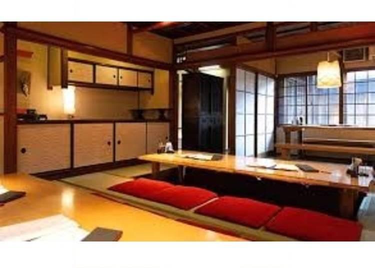 7.和を感じる掘りごたつで京都牛ステーキ「祇園ビストロ 丸橋」