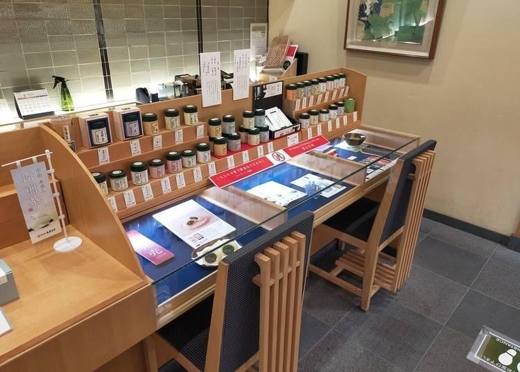 店内に広がる宇治茶の世界