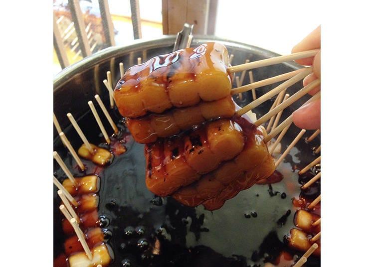清水寺周邊美食⑥「梅園 清水」人氣名物!米袋樣子的「御手洗糰子」