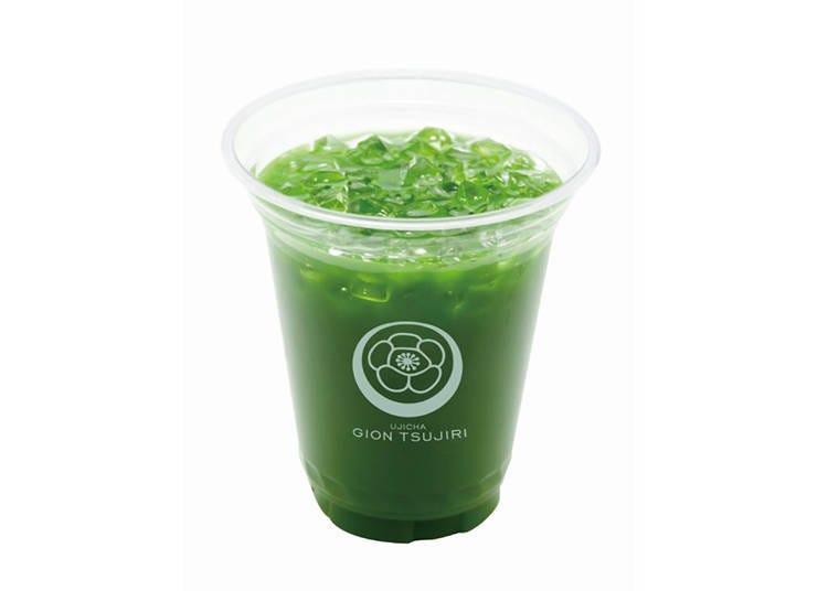 清水寺周邊美食⑨「茶寮都路里 高台寺店」可以簡單喝到非常講究的抹茶飲料!