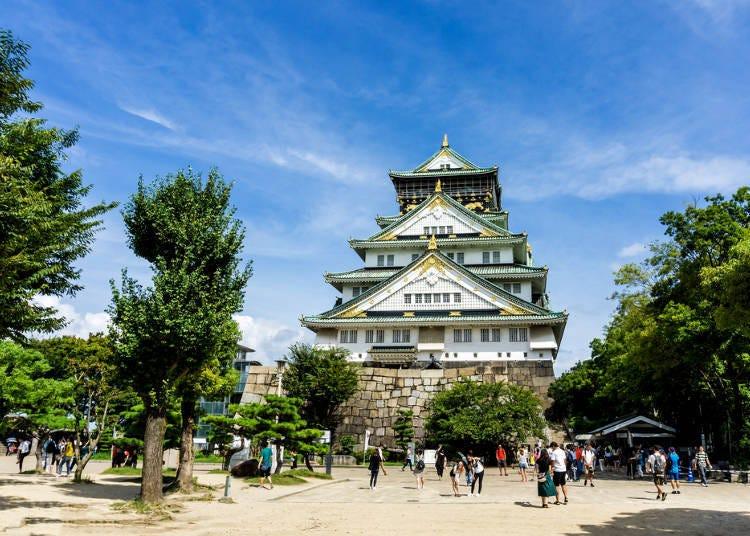 大阪景點②大阪的象徵地標「大阪城天守閣」!