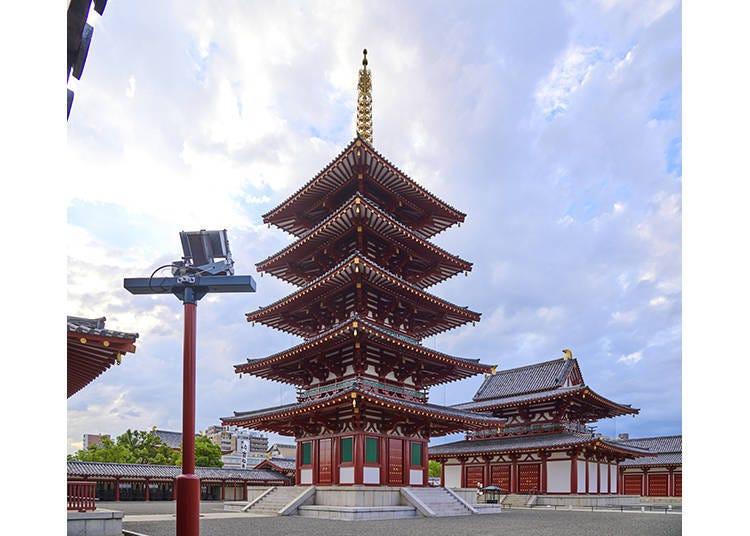 大阪景點⑫由聖德太子創建的日本最古老寺廟「四天王寺」
