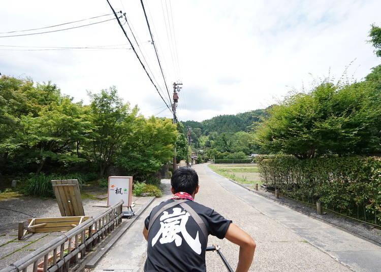 岚山一日游⑥搭乘人力车享受岚山观光
