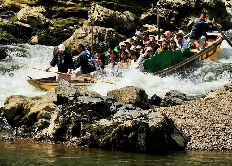 嵐山一日遊⑤搭乘「保津川遊船」體驗乘著激流的刺激快感