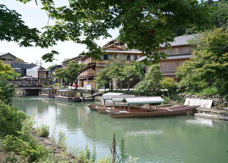 嵐山渡月橋周邊景點②屋形船、小船出租