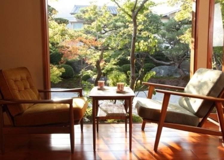 庭のある日本家屋で過ごすほっこり時間!「eX cafe 京都嵐山本店」