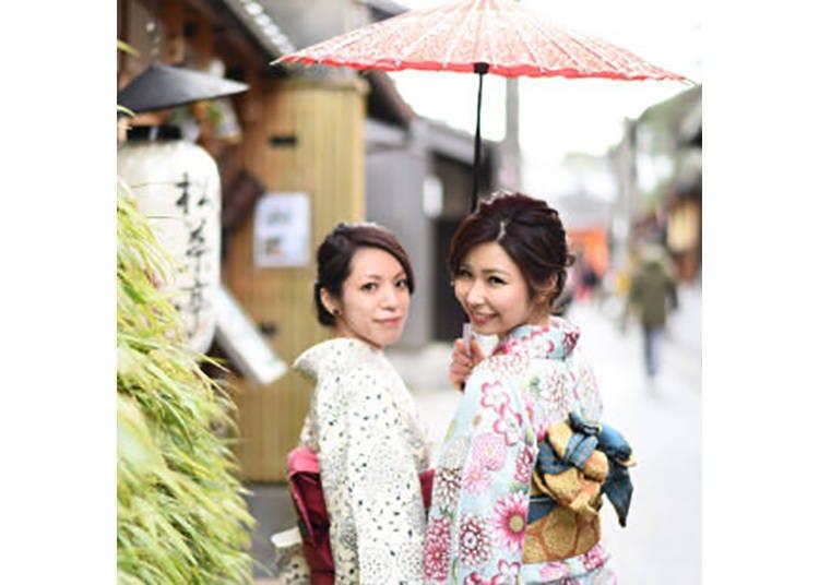 【きものレンタル 夢京都 高台寺店】着物に着替えて、京都の街を歩こう