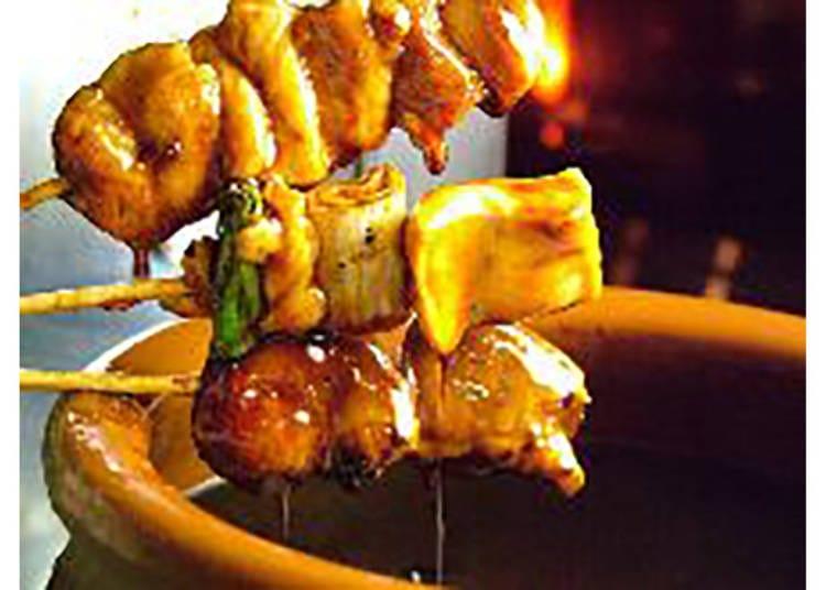 【風見鶏 烏丸六角店】炭火で焼く京都の地鶏が食べられる