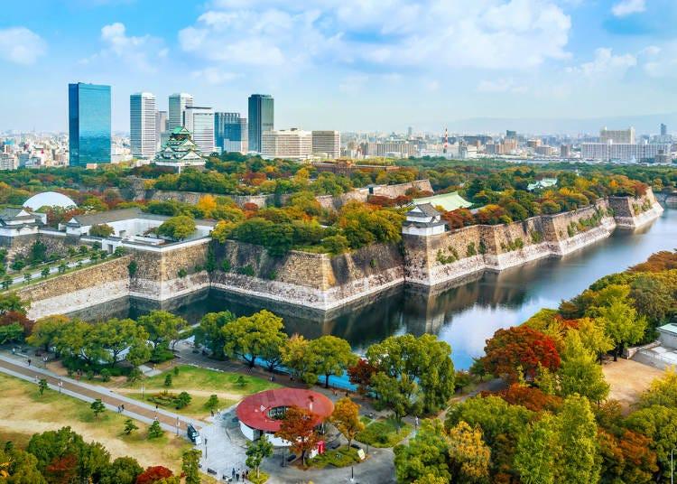 【大阪城公園】天守閣を中心に広がる、広大な公園