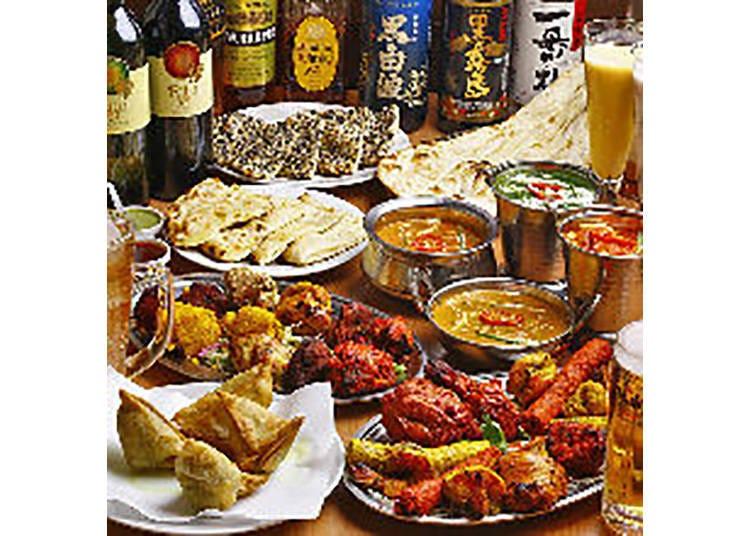 【スパイスバル ジャイ】本格インド料理を食べ飲み放題で満喫