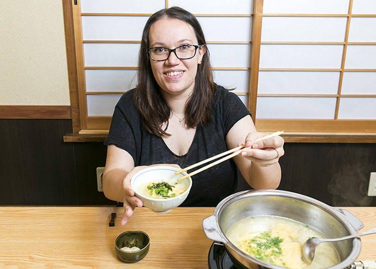 吸飽河豚鮮味的米飯,真是人間美味。
