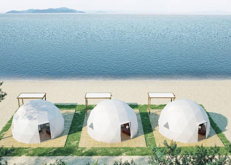Biwako Glamping Ground: A Beach by the Lake