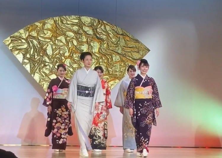 니시진직물회관의 화려한 기모노 쇼