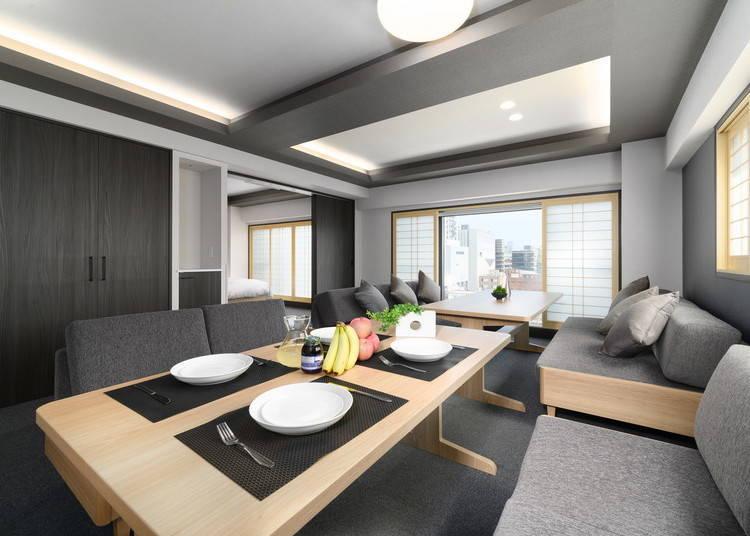 大人數家庭或是團體的話,可以住在「豪華家庭公寓」