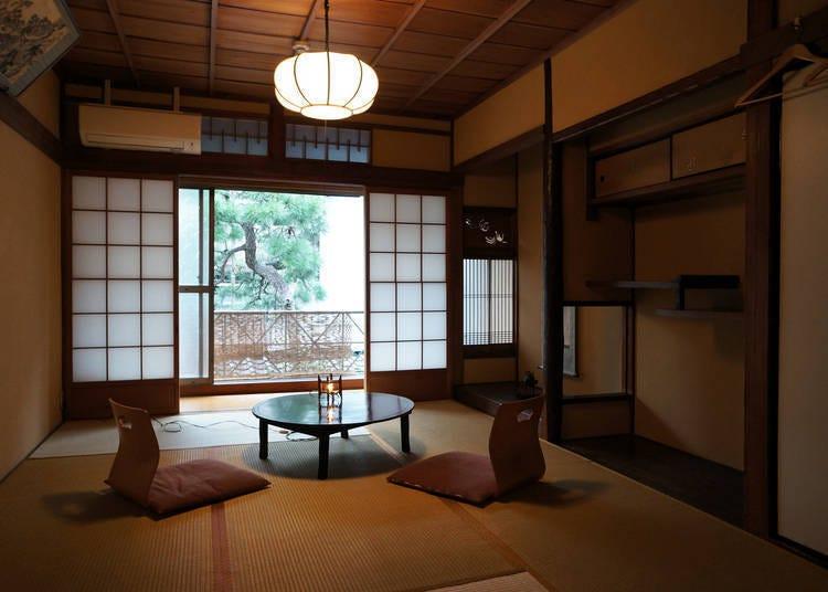 ⑤可體驗到町家原有風貌的小型旅宿「Guest House糸屋」