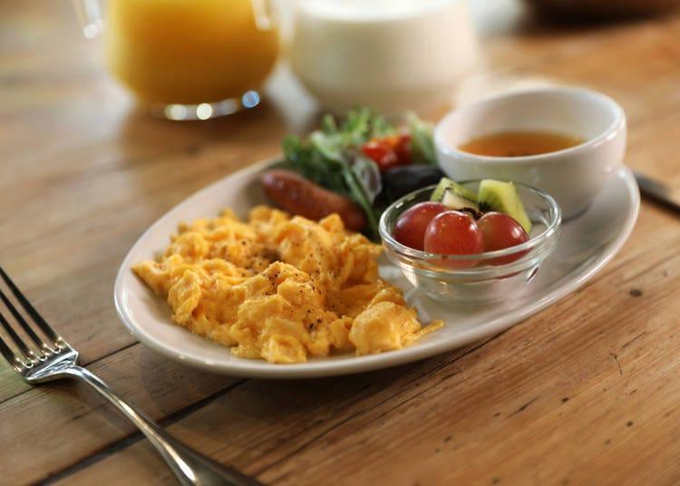 パンブッフェが大人気の手作り朝食が嬉しい