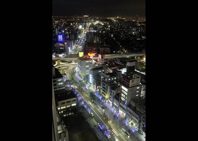 6. '사카이시청'의 꼭대기층에서 바라본 사카이 시내 360도 야경은 일품!