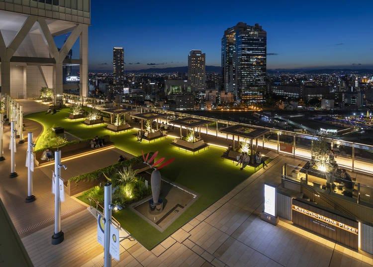 8. 우메다 주변의 야경을 한 눈에 볼 수 있는 '오사카 스테이션 시티 바람의 광장'
