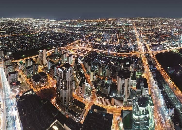 大阪夜景①登上日本第一高樓「阿倍野HARUKAS」300公尺高夜景