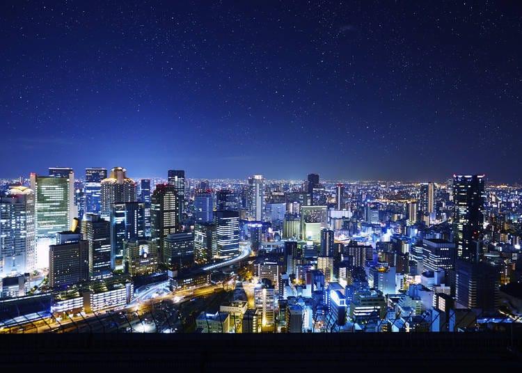 大阪夜景②到「梅田藍天大廈空中庭園展望台」來一趟星空散歩