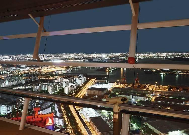 大阪夜景③地上252公尺「咲洲廳舍展望台」感受港灣耀眼光芒