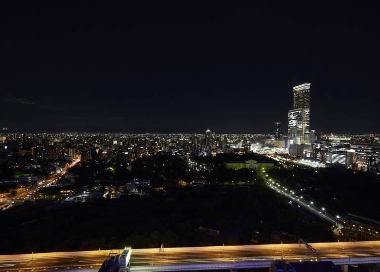 大阪夜景⑨浪花象徵「通天閣」眺望大阪市内絢爛夜景