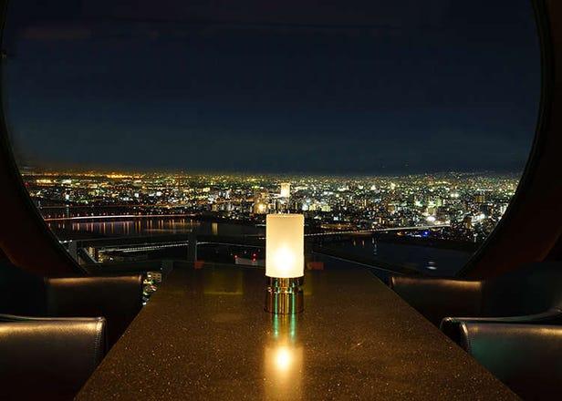오사카 야경이 멋있는 맛집, 레스토랑 5곳! 오사카 성도 보인다!