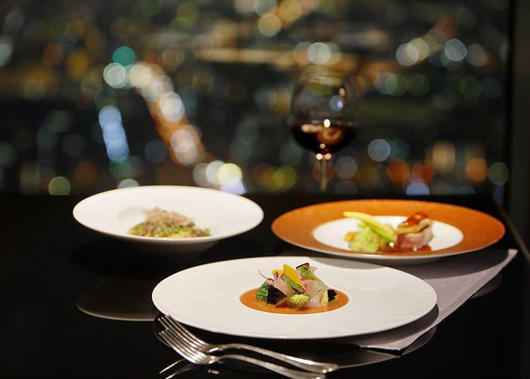 欧風料理と日本料理を同じ空間で味わえる