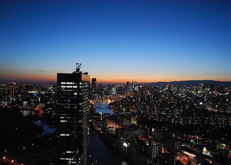 4.大阪市街地から京都方面まで見渡せる「ダイナミックキッチン&バー 燦 −SUN−OBPツインタワー店」